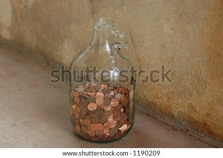 jar pennies stock photo 1190209 shutterstock
