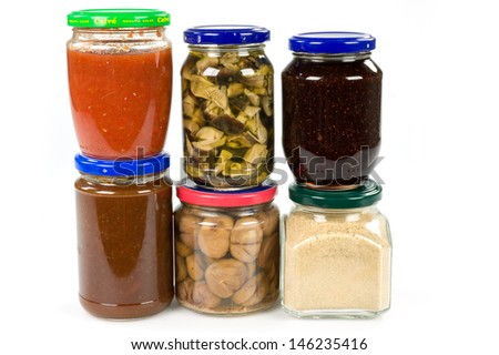 jars with food