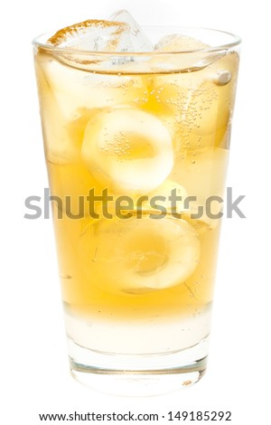 Jasmine drink with ice cubes - stock photo