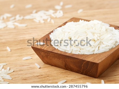 Jasmine rice on the table