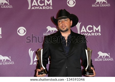 Jason Aldean at the 48th Annual Academy Of Country Music Awards Press Room, MGM Grand Garden Arena, Las Vegas, NV 04-07-13