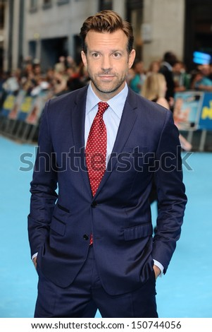 Jason Sudeikis arriving for the 'We're The Millers' European Premiere, Odeon West End, London. 14/08/2013 - stock photo