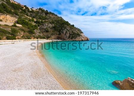 Javea La Granadella beach in Xabia Alicante Mediterranean Spain - stock photo