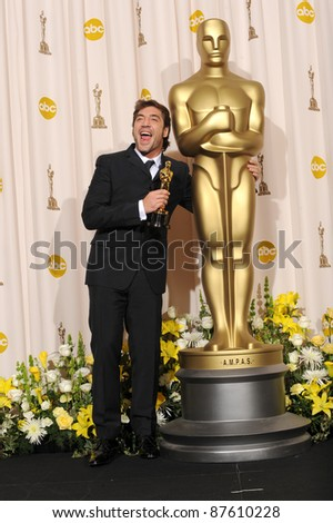Javier Bardem at the 80th Annual Academy Awards at the Kodak Theatre, Hollywood. February 24, 2008 Los Angeles, CA Picture: Paul Smith / Featureflash - stock photo
