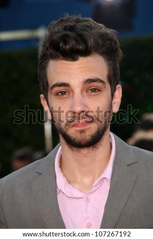 Jay Baruchel  at the Los Angeles Premiere of 'Tropic Thunder'. Mann's Village Theater, Westwood, CA. 08-11-08 - stock photo