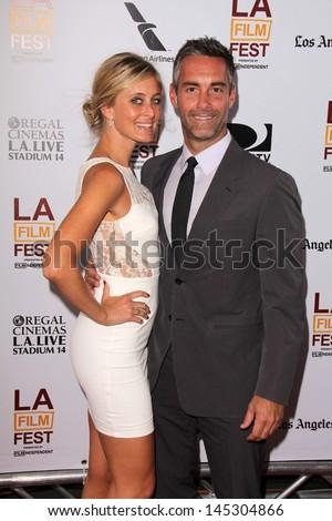 "Jay Harrington, Monica Richards at ""The Way Way Back"" Premiere as part of the Los Angeles Film Festival, Regal Cinemas, Los Angeles, CA 06-23-13 - stock photo"
