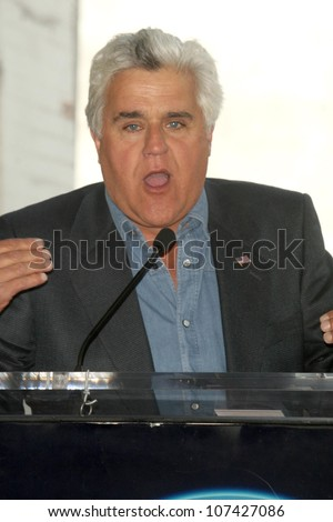 Jay Leno at the Hollywood Walk of Fame Ceremony honoring Howie Mandel. Hollywood Boulevard, Hollywood, CA. 09-04-08 - stock photo