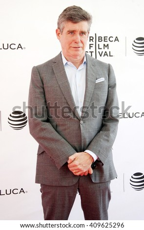 Jay McInerney arrives at the Tribeca Talks Storytellers held at  SVA Theatre 1 during the 2016 Tribeca Film Festival on April 20, 2016 in New York City, NY
