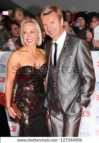 Jayne Torville and Christopher Dean arriving for the National Television Awards 2013, at the O2 Arena, London. 23/01/2013 Picture by: Alexandra Glen - stock photo