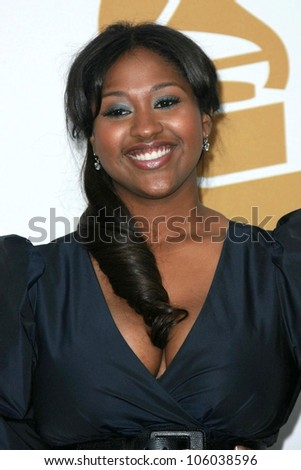 Jazmine Sullivan   at The Grammy Nominations Concert Live!! Nokia Theatre, Los Angeles, CA. 12-03-08