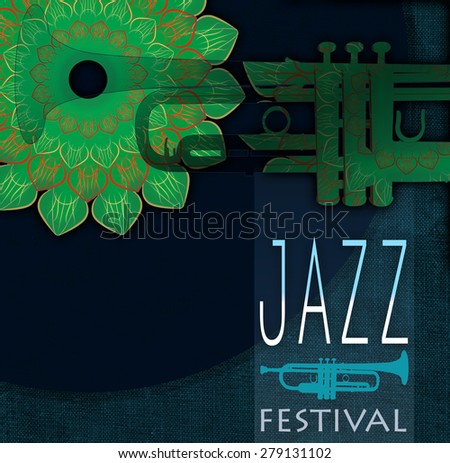 Jazz festival poster - stock photo