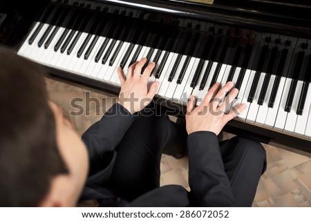 Jazz, piano, arts and entertainment. - stock photo
