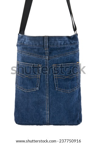 jean bag on a white background