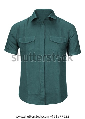 jean shirt isolated