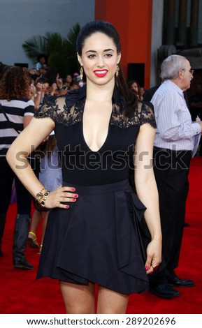 Jeanine Mason at the Los Angeles premiere of 'Step Up Revolution' held at the Grauman's Chinese Theatre in Hollywood on July 17, 2012.  - stock photo
