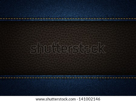 jeans and leather for background