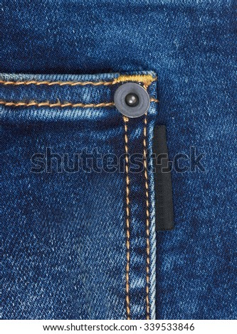 Jeans background with pocket, closeup