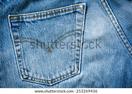 jeans bag texture background - stock photo