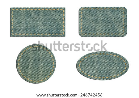 jeans for label - stock photo