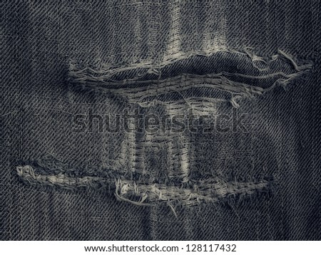 Jeans grunge background texture - stock photo
