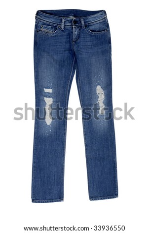 Jeans isolated on a background