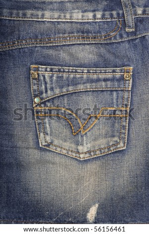 Jeans pocket. - stock photo