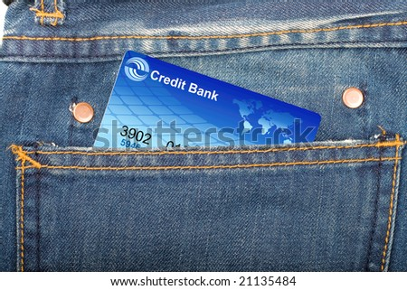 jeans pocket with credit card inside
