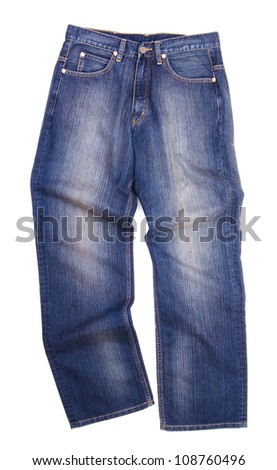 jeans, stylish jeans on the blackground