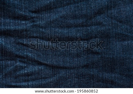 Jeans Texture - creased - stock photo