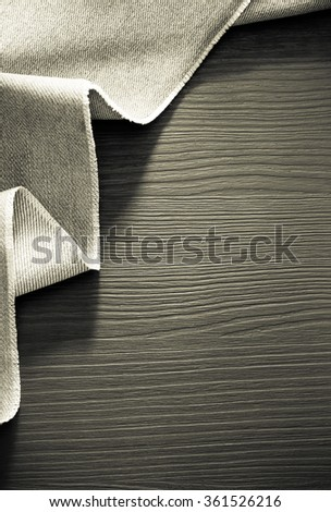 jeans texture on wooden background - stock photo