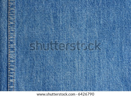 Jeans texture with stitch - stock photo