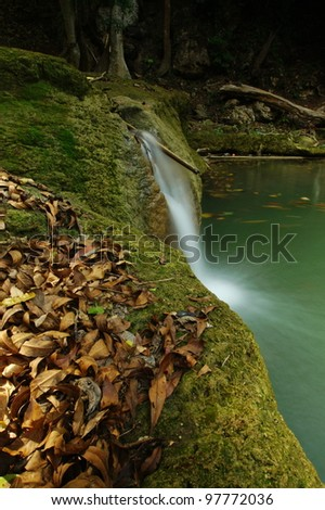 Jed-Sao-Noi (Little Seven-girl) Waterfall - THAILAND - stock photo