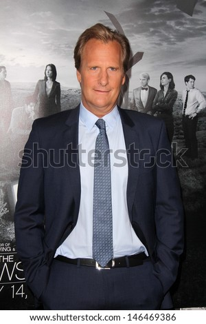 "Jeff Daniels at ""The Newsroom"" Season 2 Premiere, Paramount Studios"