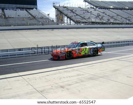 jeff gordon qualifing at dover - stock photo