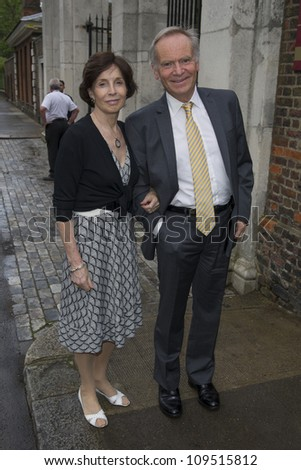 Jeffrey and Mary Archer arriving for David Frost's Annual Garden Party held at the Royal Chelsea Hospital in London. 10/07/2012 Picture by: Simon Burchell / Featureflash