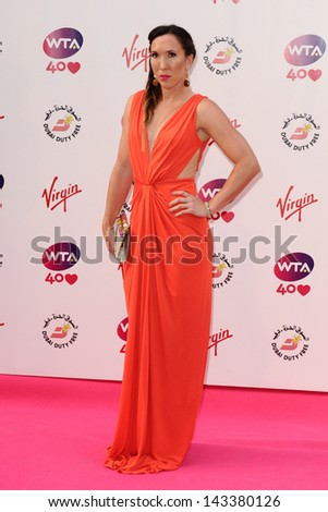 Jelena Jankovich arriving for the WTA Pre-Wimbledon Party 2013 at the Kensington Roof Gardens, London. 20/06/2013 - stock photo