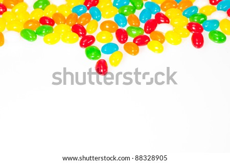 Jelly beans border - stock photo
