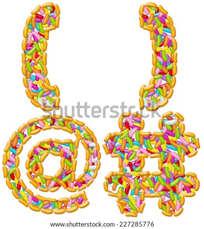 Jelly Beans Candy font alphabet