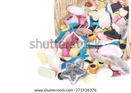 Jelly Candy basket - stock photo