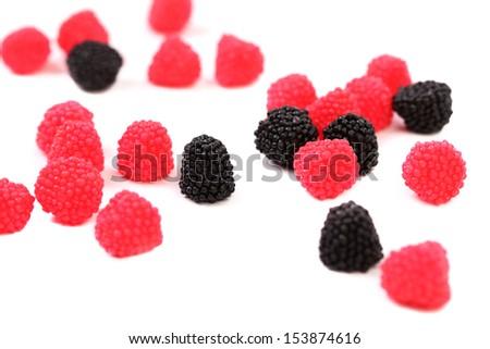 Jelly fruit like blackberry. - stock photo