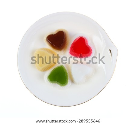 jelly pudding isolate on white