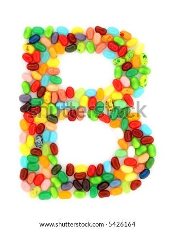 jellybean B - stock photo