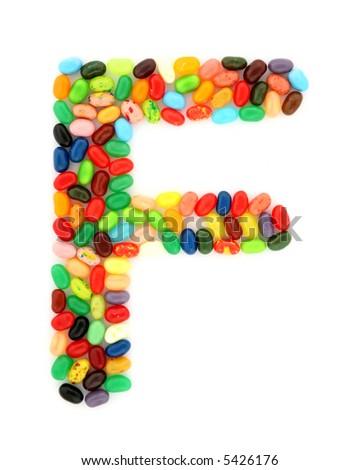 jellybean F - stock photo