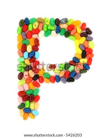 jellybean P - stock photo