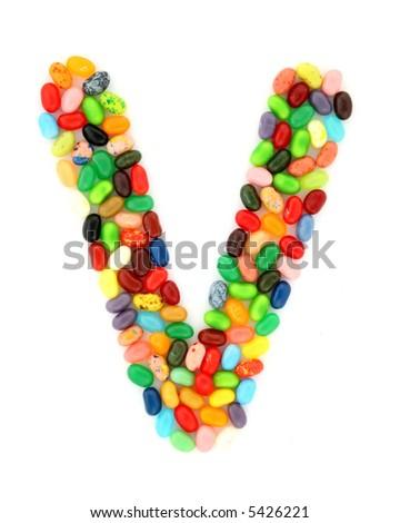 jellybean V - stock photo