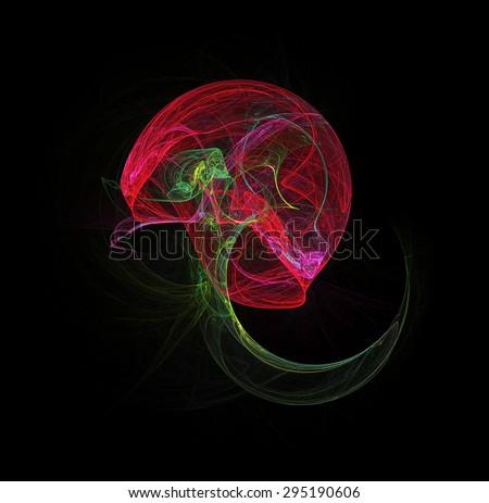 Jellyfish abstract illustration - stock photo