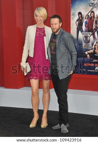 "Jenna Elfman & husband Bodhi Elfman at the world premiere of ""Rock of Ages"" at Grauman's Chinese Theatre, Hollywood. June 9, 2012  Los Angeles, CA Picture: Paul Smith / Featureflash"