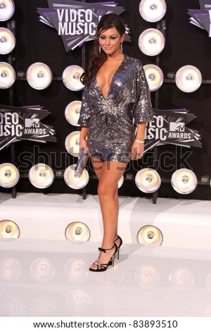 Jenni 'JWoWW' Farley at the 2011 MTV Video Music Awards Arrivals, Nokia Theatre LA Live, Los Angeles, CA 08-28-11