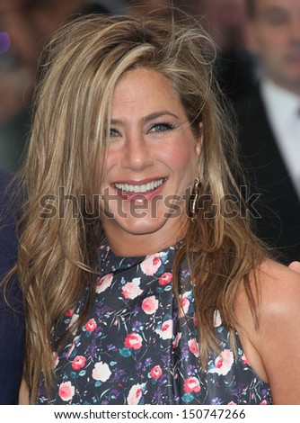 Jennifer Aniston arriving for the 'We're The Millers' European Premiere, Odeon West End, London. 14/08/2013