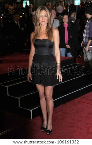 Jennifer Aniston   at Los Angeles Premiere of 'Marley and Me'. Mann Village Theater, Los Angeles, CA. 12-11-08 - stock photo